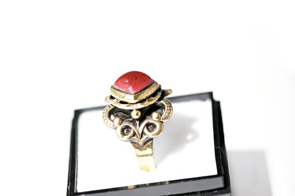 七宝焼指輪 赤